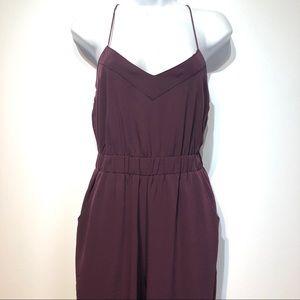 asos purple sleeveless jumpsuit Womens Size 2
